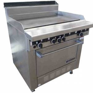 Photo of GARLAND 900MM GAS GRIDDLE HOT PLATE WITH OVEN