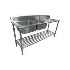 Photo of CATERSALES STAINLESS STEEL DOUBLE BOWL SINK 1500MM