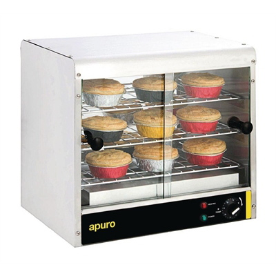 Photo of NEW APURO 30 PIE WARMER GLASS FRONT & REAR