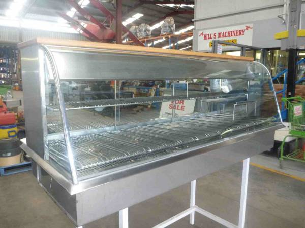 Photo of CURVED GLASS HOT FOOD DISPLAY UNIT 1750MM
