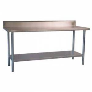 Photo of CATERSALES STAINLESS STEEL SPLASH BACK BENCH 1200MM