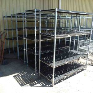 Photo of COOLROOM SHELVING GALVANISED AND PLASTIC