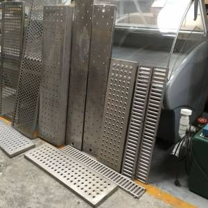 Photo of VARIOUS STAINLESS STEEL PERFORATED SHELVES-DRIP TRAYS
