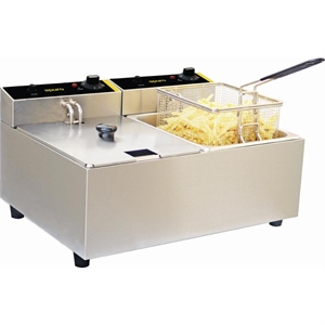 Photo of APURO 2X5LITRE DOUBLE DEEP FRYER DL891A