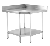 Photo of CATERSALES STAINLESS STEEL CNR SPLASH BACK BENCH