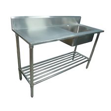 Photo of CATERSALES STAINLESS STEEL SINGLE BOWL SINK 1200MM