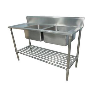 Photo of CATERSALES STAINLESS STEEL DOUBLE BOWL SINK 1800MM