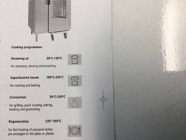 Photo of CONVOTHERM ELECTRIC 20 TRAY COMBINATION OVEN