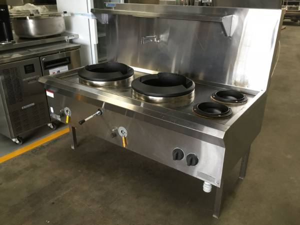 Photo of LUUS WATERLESS NATURAL GAS TWIN WOK COOKER