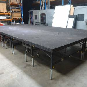 Photo of PORTABLE FOLDING HEIGHT ADJUSTABLE STAGE SYSTEM